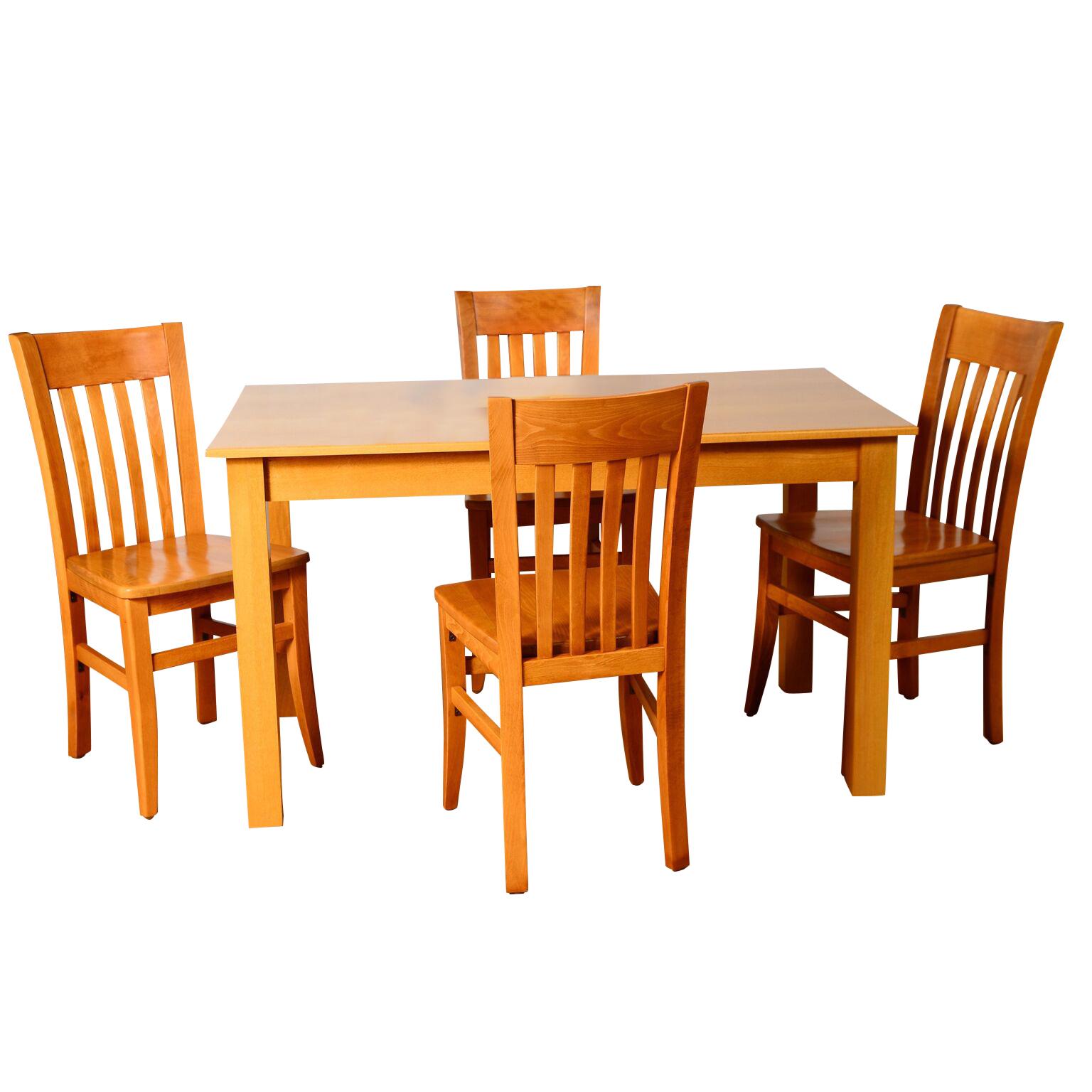 5pc Jacob Dining Set Beechwood World Seating Llc